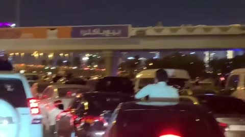 Middle of the street 2021 Countdown in Dubai
