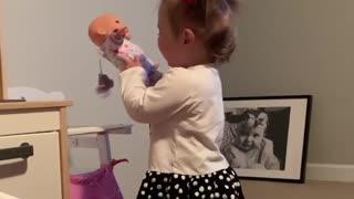 Toddler throws adorably funny temper tantrum
