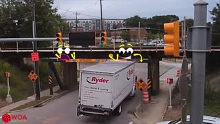 Monster Truck Doodles Gets Stuck Under Bridge   Funny Car Crash Compilation   Woa Doodles