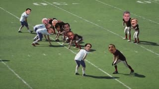 Trump makes the tackle