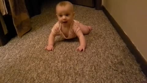 Haley tries to crawl
