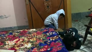 Baby Fighting with kaka uncle