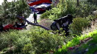 Tiger Woods suffers 'multiple' injuries in car crash