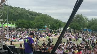 K Pop Music Festival Stage view