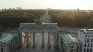 Brandenburg Gate taken from high view