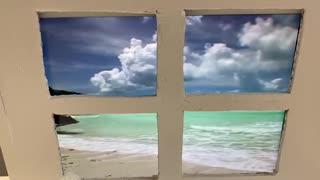 Man Dreams of the Beach during Lockdown