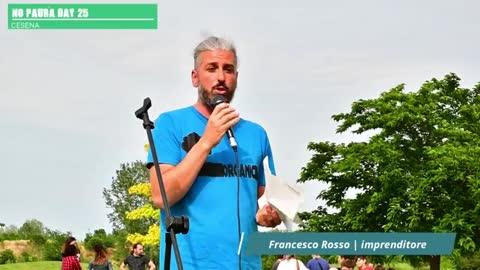 NO PAURA DAY 25, Cesena 29/5/2021, intervento di Francesco Rosso