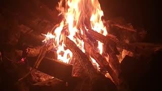 A relaxing campfire