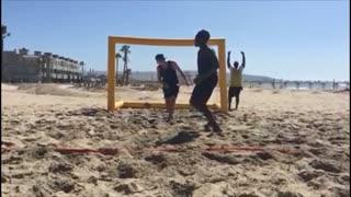 USA Handball Team Member Makes a Sick Trick Shot