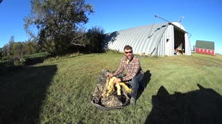 Waterfowl Hunting Tip - Stumbling a Blind with Rafia Grass