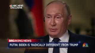 "Putin ""Trump extraordinary, Biden a career politician"""
