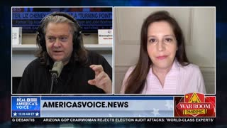 Elise Stefanik joins Stephen Bannon to discuss her run for Republican Party Chair