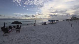 Airplane over Destin Florida Beach