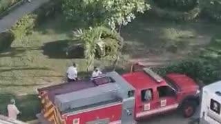 Bomberos atiende incendio en kiosco del HUC