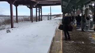 Snow Collision from Train..