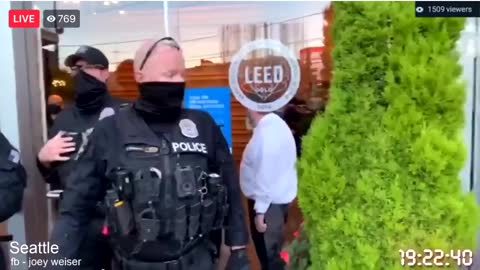 Activists stormed King 5 in Seattle for reporting on their arrests.