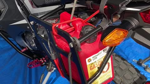 Extra gas, extra mikes on the 2018 CRF 250L Rally