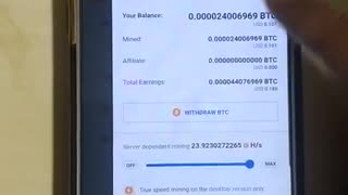 Bitcoin Mining Android Smartphone CryptoTab Browser