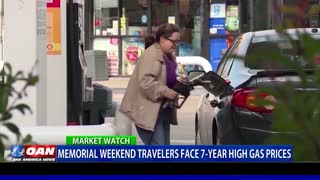 Memorial weekend travelers face seven-year high gas prices