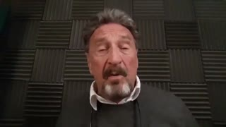 McAfee final statement before his death