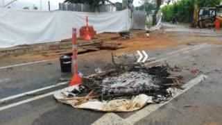 Así quedó la UIS luego de los enfrentamientos de este jueves en Bucaramanga
