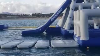Falling Down a Water Slide Face First
