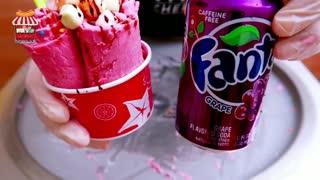 fanta grape Soda ice cream rolls