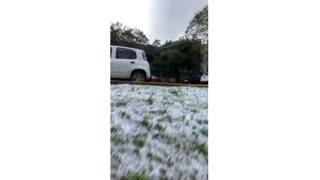 Así fue la atípica nevada en el sur de Brasil [Video]