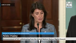Flashback: Former U.S. Ambassador to the UN announces U.S. Withdrawal from UNHRC