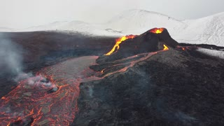 Drone Captures Up Close Footage of Erupting Volcano