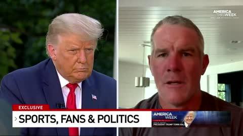 Brett Favre Asks Trump About Cratering NFL & NBA Ratings, Liberals Lose It