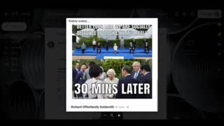G7 When Cameras Are On & Off --- The Stunning Hypocrisy