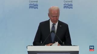 Biden ADMITS Taking Questions From Pre-Approved List of Reporters