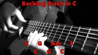 Acoustic Guitar Fingerpicking Backing Track in C (No Drums)