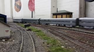 SP Daylight Freight Meets Passenger Train