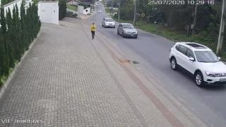 Small Plane Crashes onto a Residential Street in Guabiruba Brazil