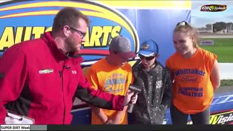 "Smart Kid Says ""Let's Go Brandon!"" on Mic Before Race"