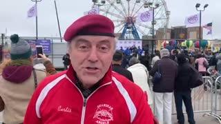 Curtis Sliwa at Coney Island re-opening