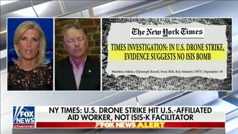 Dr. Rand Paul Joins Ingraham to Discuss Recent US Drone Strike - September 10, 2021