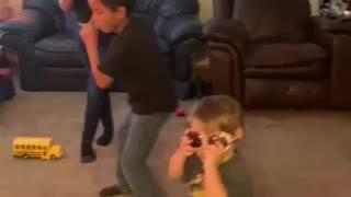 Kids happy dance