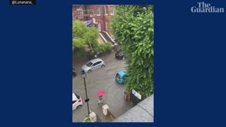 London and Southern England hit by torrential rains and Flood