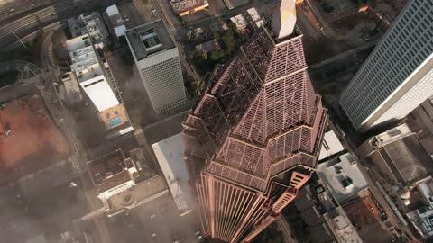 Beautiful Cityscape Drone Footage