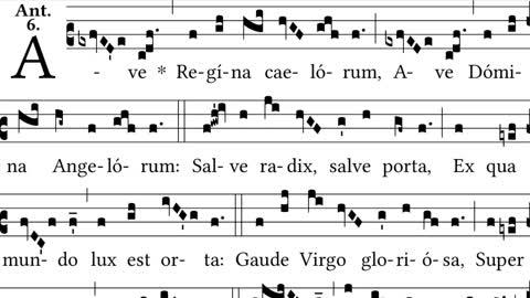 Ave Regina Caelorum - simple then solemn