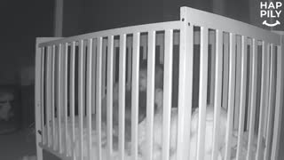 Boy Escapes Crib To Comfort Crying Little Brother Back To Sleep