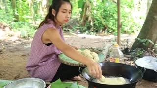 Yummy cooking egg kabab cake recipe _ Cooking skills _ Khmer Survival Skills