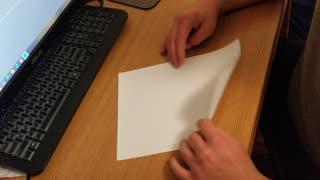 Folding a piece of paper