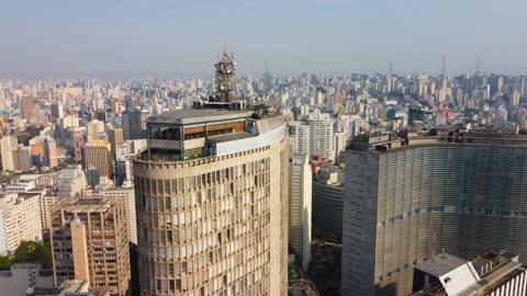 Sao Paulo - Centro (drone video)
