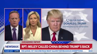 Trump reacts by phone to Milley's Treason.