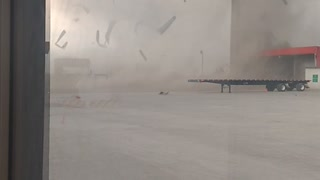 Tornado Tears Apart Truck Depot