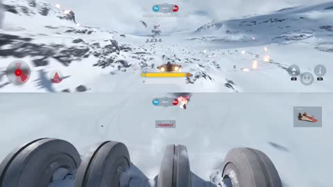 An awesome trick in an A-wing in Star Wars Battlefront.